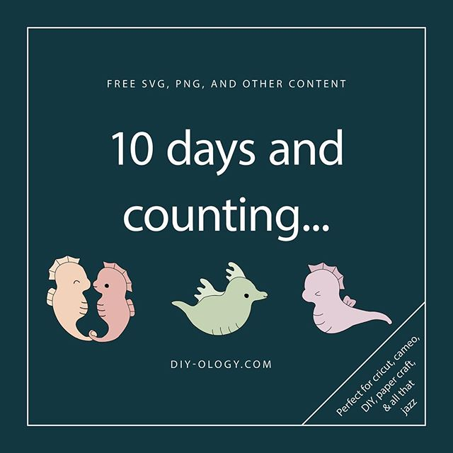 10 days and counting until the official launch of diy-ology.com. Free #svg, #png, and other goodies. We're a team of two sisters #adulting but doing what we need to do maintain a balance. We build communities and draw strength from each other, part of that is sharing what we do with you. Follow and subscribe for exclusive access to free monthly content. She's an artist by nature/profession, I'm a professor by day, were both givers at heart. During this 10 day count down we'll prep and different content for release on 1/25/19. #planneraddict #plannerstickers #plannercommunity #diy #bulletjournal #craft #cricut #vinyl #papercrafts #adobeillustrator #svg #png #seahorse #seadragon #doodle