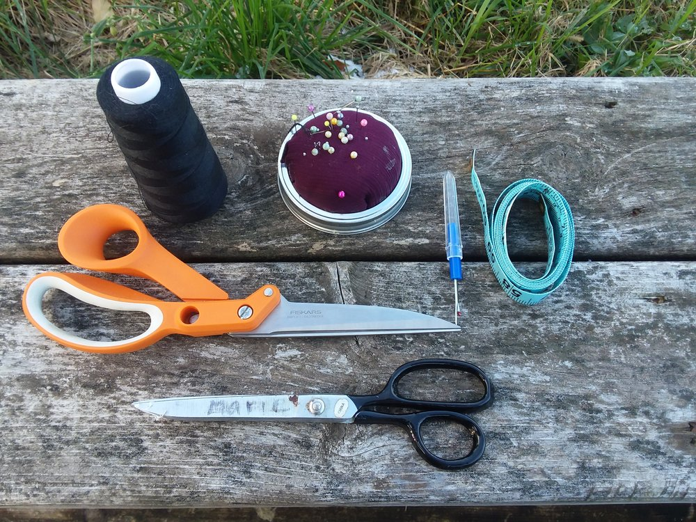 This is all you need to get started sewing (minus the fabric). In fact, it's more than enough. Really just start with a needle, thread, and scissors and you are well on your way.