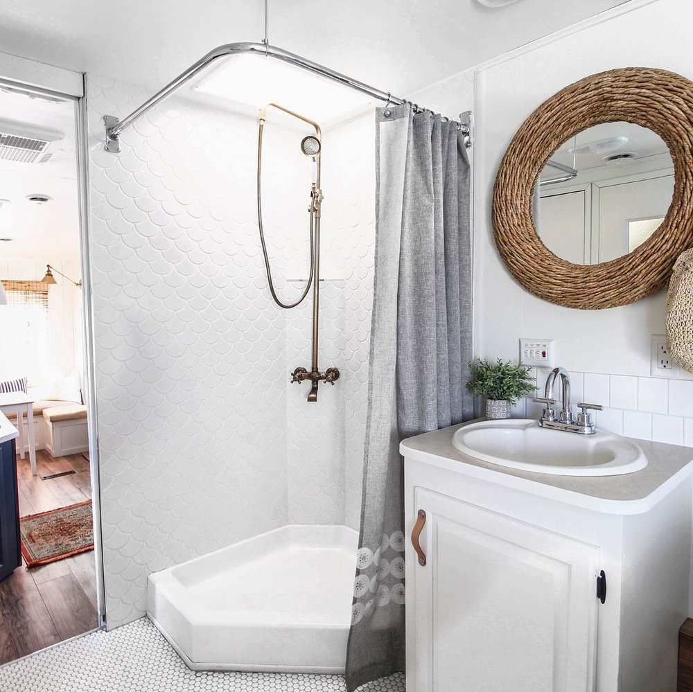 renovated rv bathroom