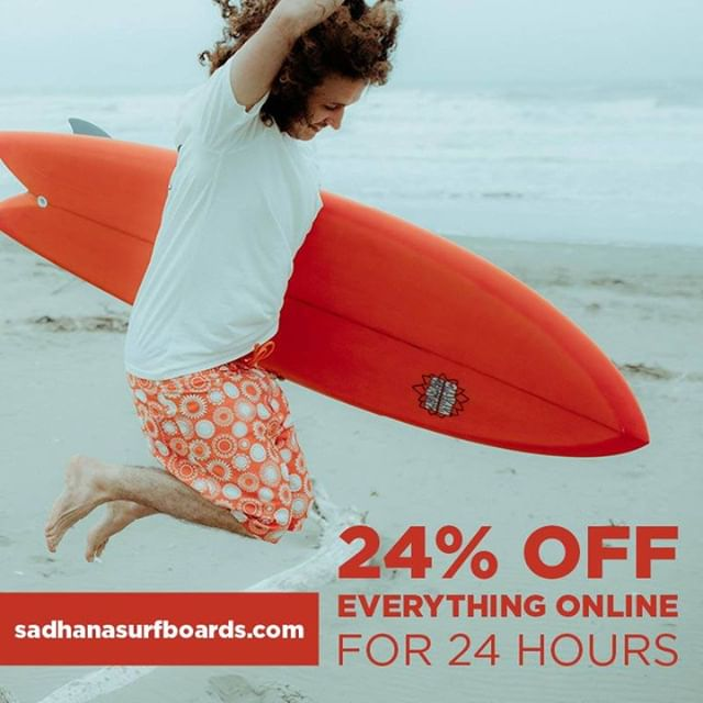 OUR NEW WEBSITE IS NOW LIVE!! To celebrate, we have 24% OFF everything online, for 24 hours only!!! Head to our website, https://www.sadhanasurfboards.com/ and when you get to the check out, enter the Promo Code 24OFF to get your discount.  The discount will be valid until 12:30pm Wednesday 13th of February!  #shop #shoplocal#supportlocal #shaper #surfshaper#surfboard #custom #custommade #surf#surfnz #surfingnz #summer #vibes#summervibes #christchurch #chch#chchnz #christchurchnz #sadhanasurf#beach #sadhanasurf #discount #website #launch