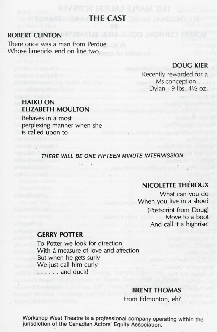 The Maple Laugh Forever (May, 1982) - Program Information-page-002.jpg