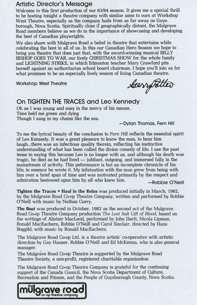 Tighten the Traces - Haul in the Reins (September, 1983) - Program Information-page-002.jpg