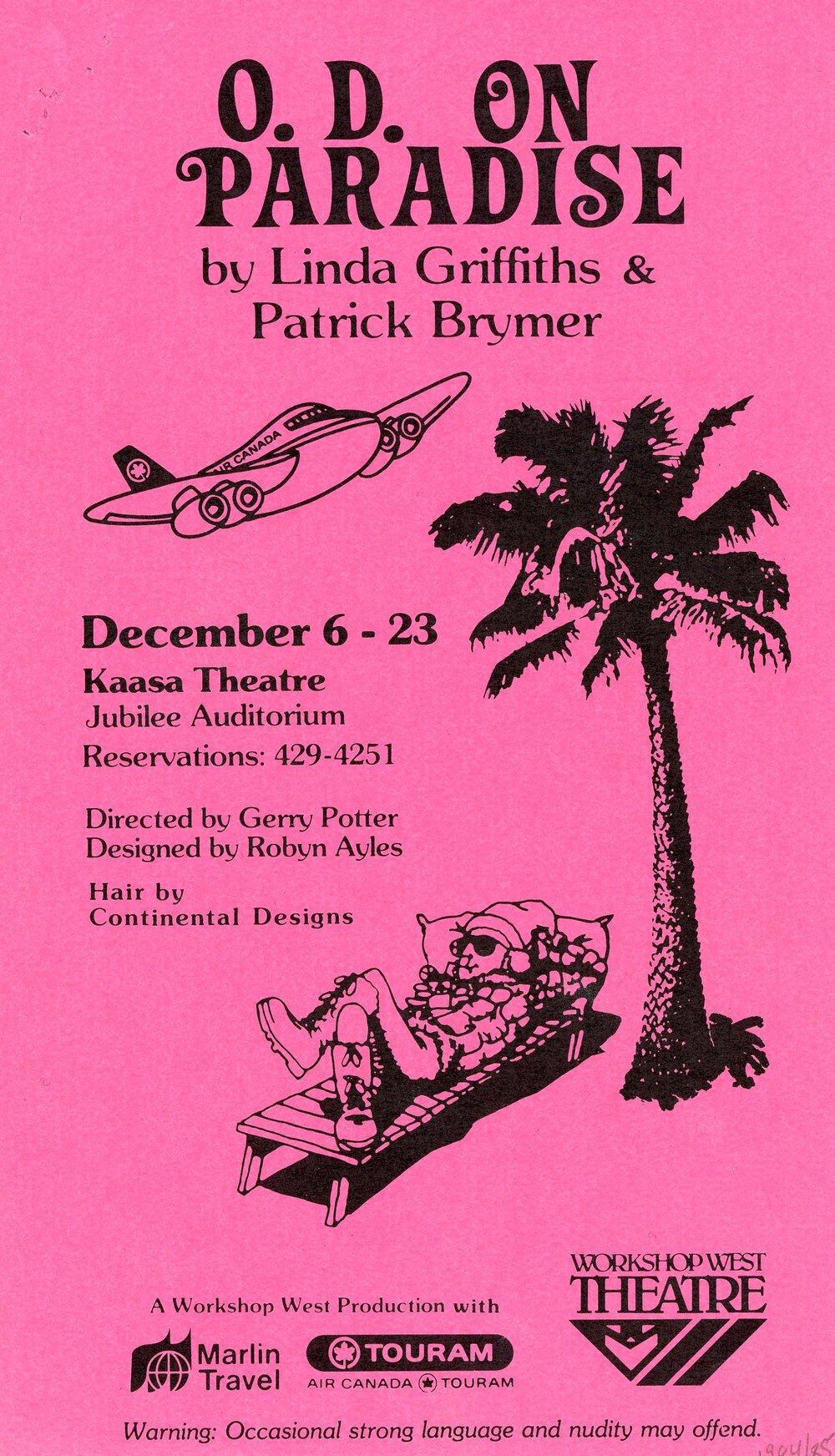 O.D on Paradise (December, 1984) - Program Cover.jpg