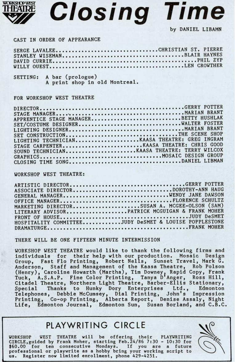 Closing Time (January, 1986) - Production Information-page-001.jpg