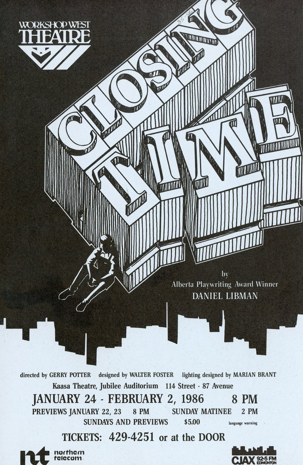 Closing Time (January, 1986) - Program Cover.jpg