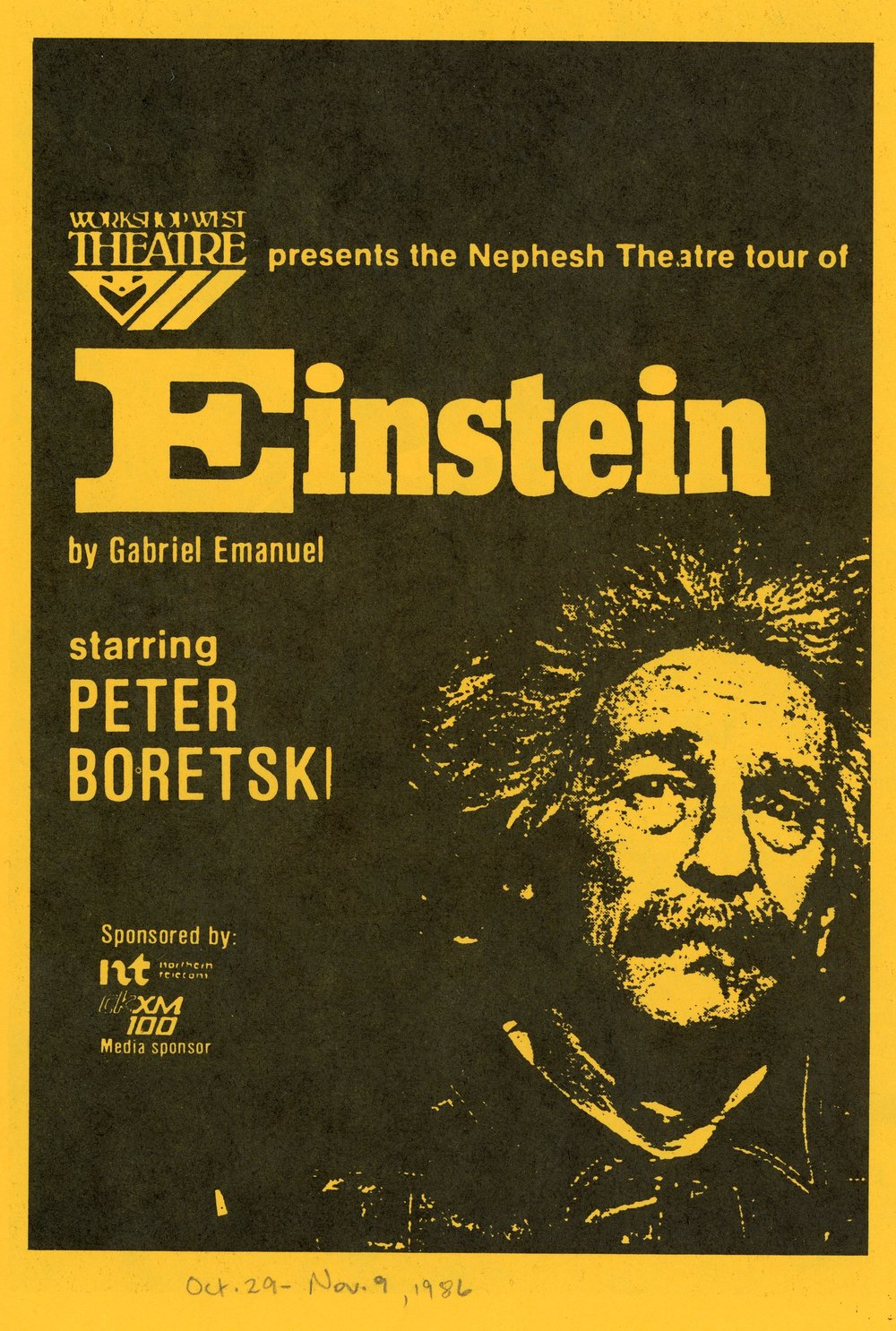 Einstein (On Tour) (October, 1986) - Program Cover.jpg