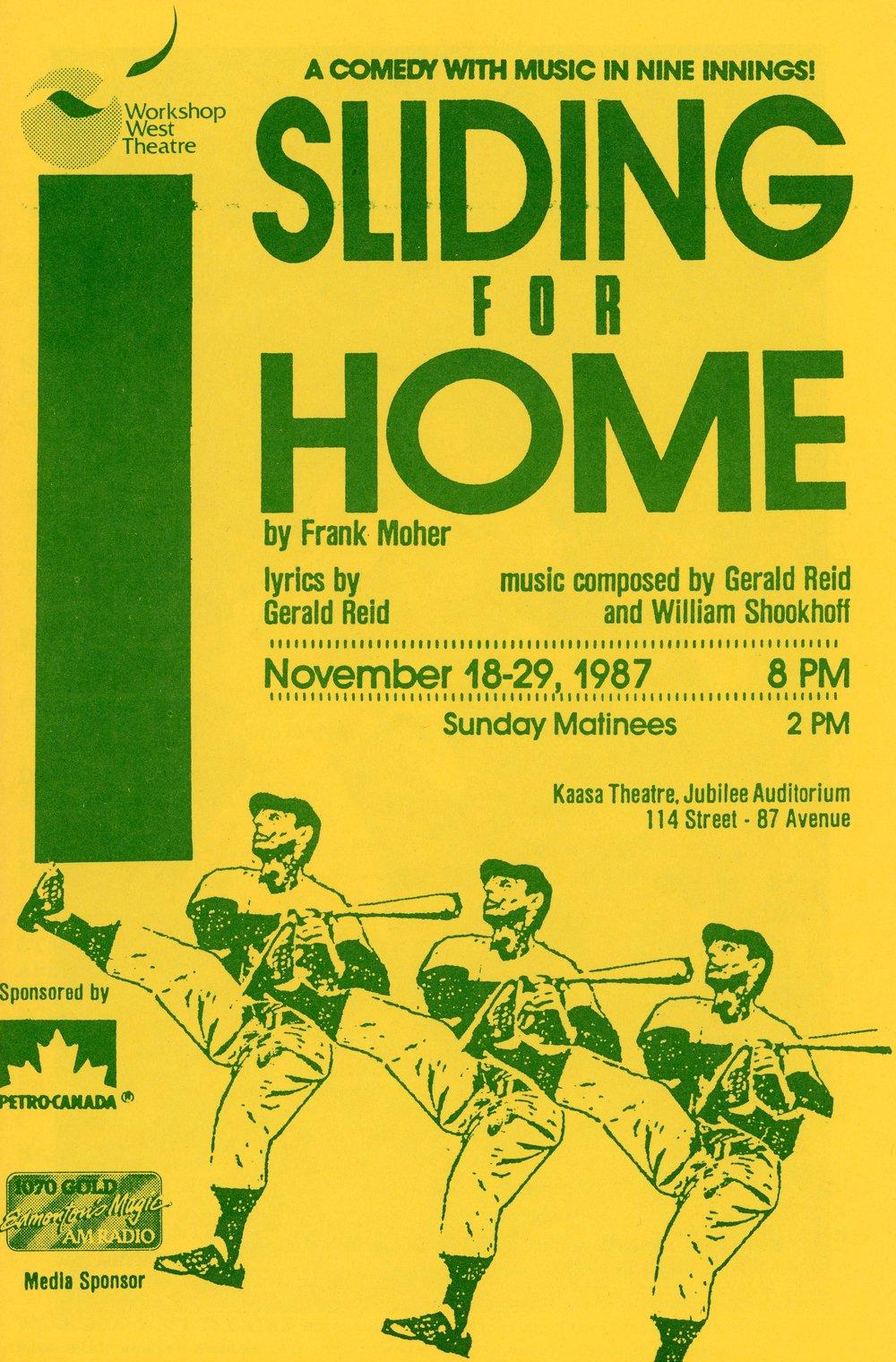 Sliding for Home (November, 1987) - Program Cover.jpg