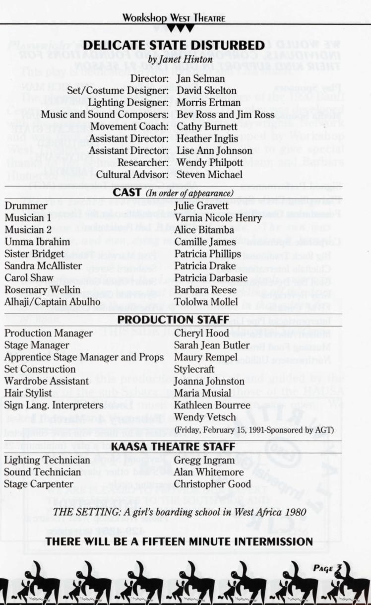 Delicate State Distrubed (January, 1991)-Production Information-page-001.jpg
