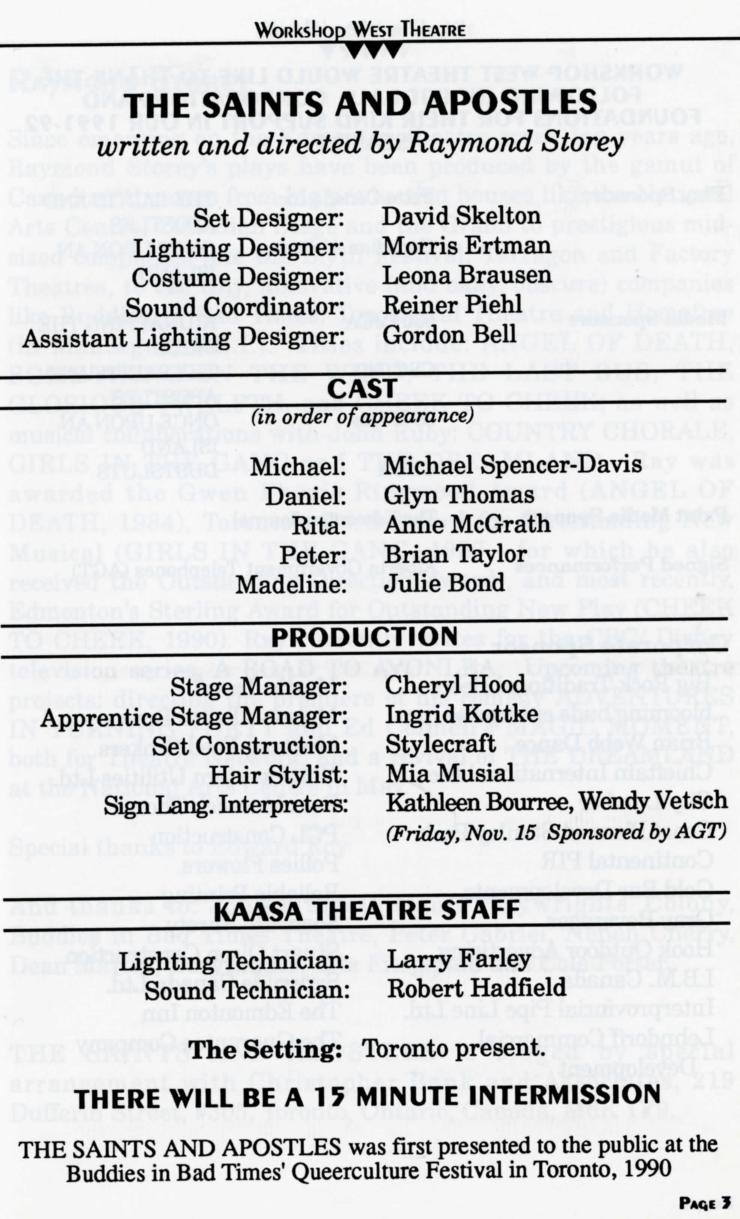 The Saints And Apostles (November, 1991) -Production Information-page-001.jpg