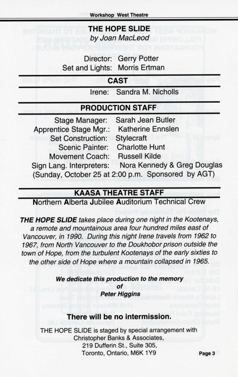 The Hope Slide (October, 1992)- Production Information-page-001.jpg