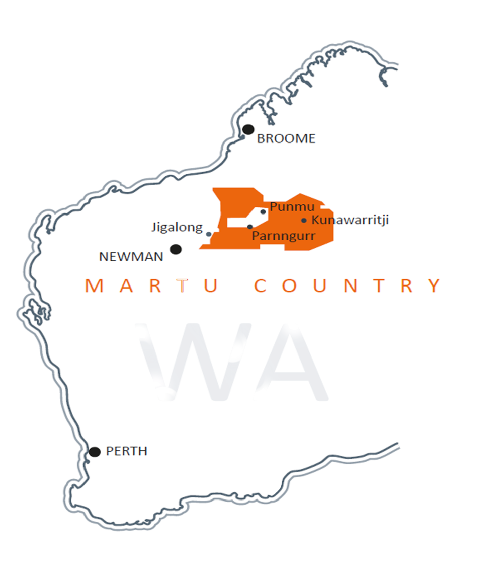 A map of Martu country