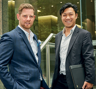 The drivers behind Mai Capital, Tom Ellis, left, and Michael Mai. Picture: Patrick Varney