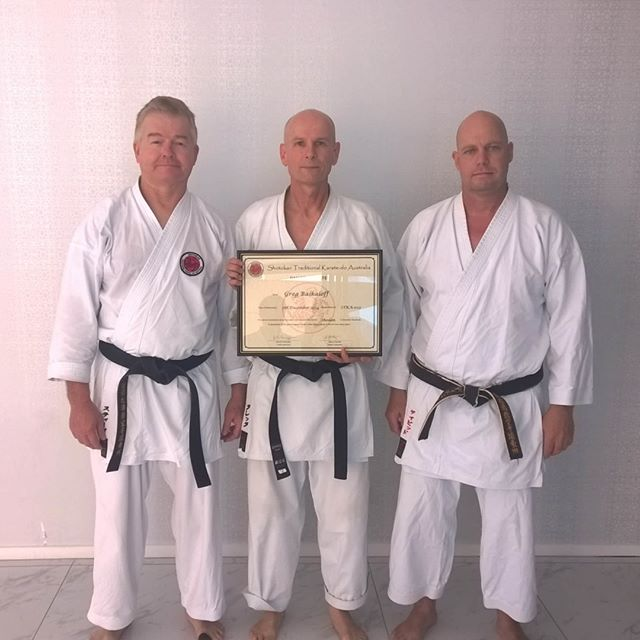 Greg grading to shodan (black belt) at Gold Coast Dojo in 2015⠀⠀⠀⠀⠀⠀⠀⠀⠀ ⠀⠀⠀⠀⠀⠀⠀⠀⠀ #karatelife #karatelifestyle #karatetraining #karategrading #shotokan #shotokankarate #shotokankaratedo #traditionalkarate #karate #karatedo #karateka