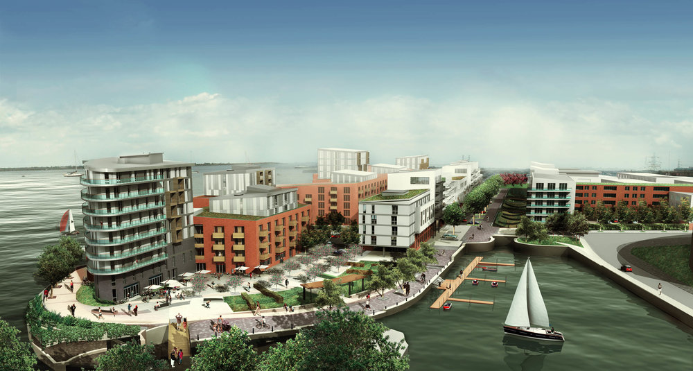 Albion Quayside    Mixed-use, Residential, Masterplan, Riverside Regeneration - Gravesham