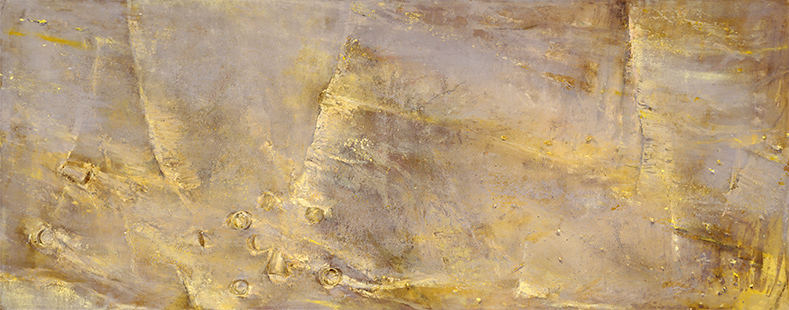 Downstream III  1997, 120 x 305 cm