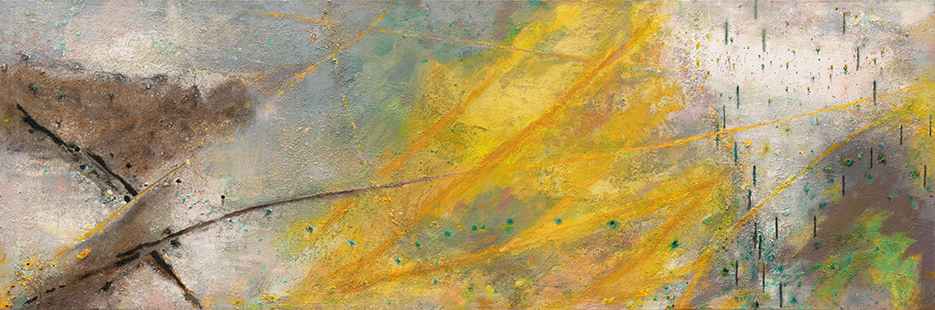 Sunlit Water's Edge  2001-10, 100 x 300 cm