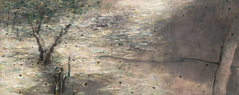 River Flood  2008-10, 122 x 305 cm