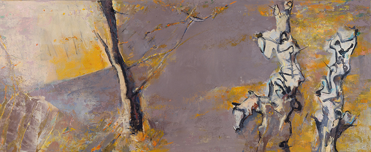 Landscape With Trees  1991-2, 173 x 448 cm