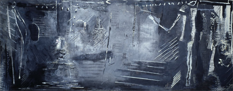 Reflections I (Grey Interior)  1984-6, 172 x 447 cm