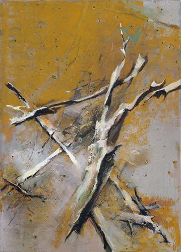 Collapsing Tree  2008-10, 213 x 152 cm