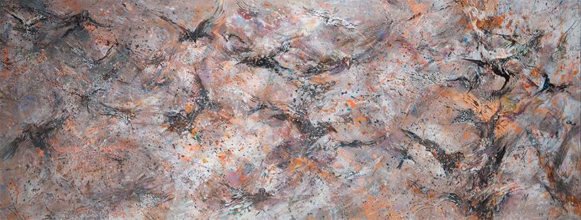 Birdstorm  2017, 71 x 183 cm
