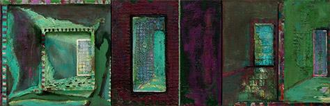 Summer Garden Light  1996, 41 x 122 cm