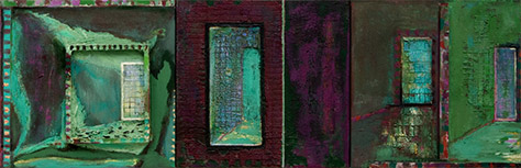 Summer Heavy Garden Light  1996, 41 x 122 cm