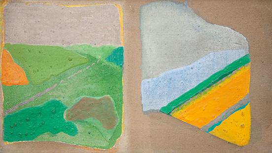 Cobbs Hill  1971, 22.5 x 40.5 cm