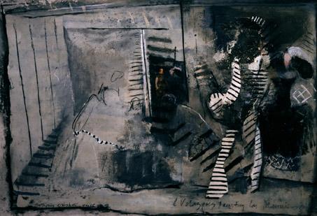 Velasquez Painting Las Meninas  1984-5, 68.5 x 101 cm