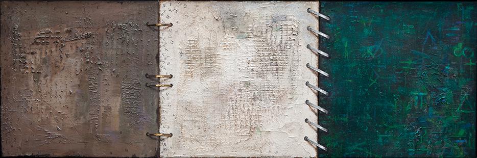 Disintegrating Filofax Memory  1998-2014, 40 x 122 cm