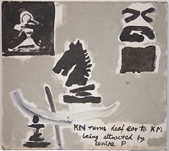 Knight Turning Away  1982, 30 x 33 cm