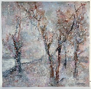 Winter  2017-18, 48.5 x 48.5 cm