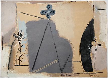 Three Flowers  1990-94, 28 x 39 cm