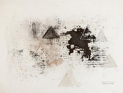 Triangular Landscape  1975-6, 56 x 75.5 cm
