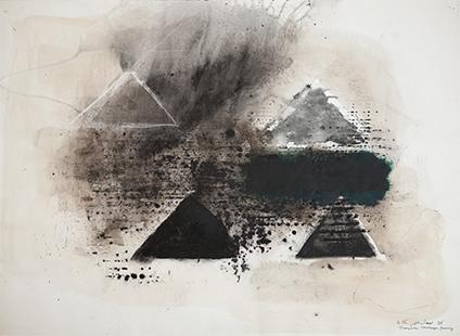 Triangular Landscape Forming  1976, 56 x 75.5 cm