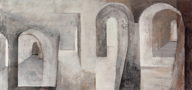 Arched Interior  1996-2000, 47 x 102 cm