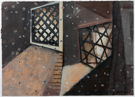 Mirrored Interior With Dust Particles  1993-4, 31 x 43 cm