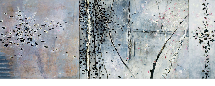RIPPLED POND 168 x 422 cms 2005-6