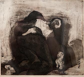 Sleeping Man  1961, 25 x 27 cm, etching
