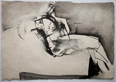 Relaxing Model  1972, 19 x 28 cm