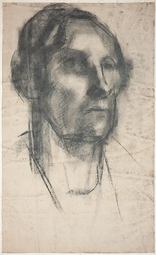 Portrait  1954, 50 x 30.5 cm