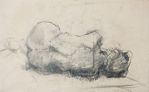 Lifedrawing  1955, 31 x 50 cm