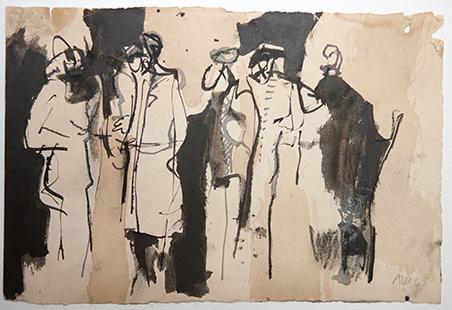 Awaiting Figures  1968, 19 x 28.5 cm