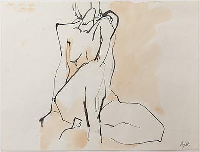 Life Class  1973, 20 x 26 cm