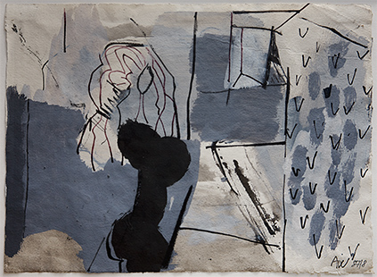 Woman And Mirror  1987-8, 22 x 30 cm