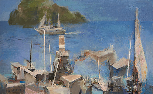 466_aegean_harbour_anthony_whishaw_ra_painting_water_sea.jpg