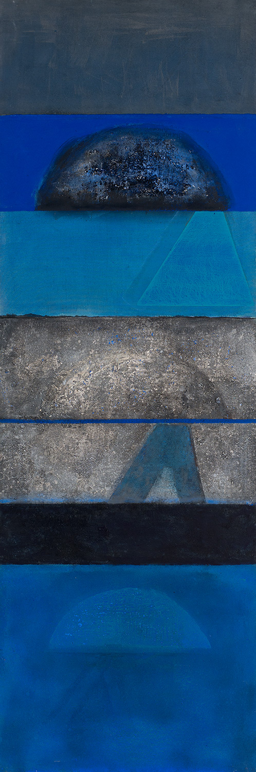 Still Night Sea With Gibraltar In Mind  1975-2011, 229 x 75 cm