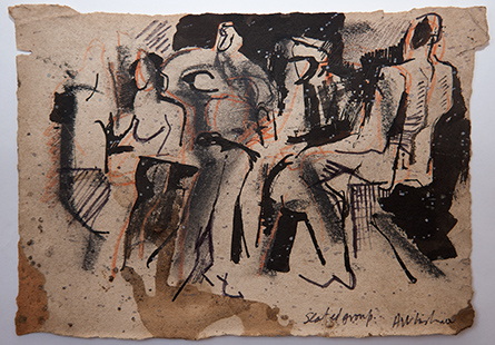 Seated Group  1962, 14 x 20 cm