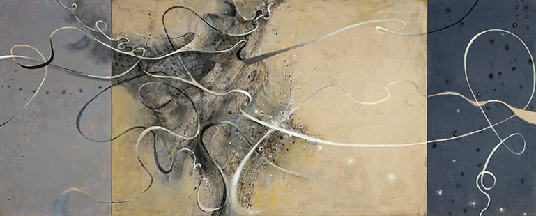 Turbulence  2001-6, 173 x 414 cm