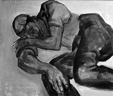 Sleeping Figure  1959, 122 x 152 cm, oil on board
